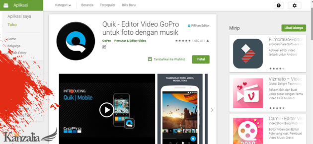 aplikasi edit video android tanpa watermark free